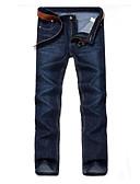 ieftine Pantaloni Bărbați si Pantaloni Scurți-Bărbați Mărime Plus Size Bumbac Drept / Blugi Pantaloni Mată / Sfârșit de săptămână