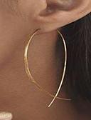 preiswerte Bikinis-Damen Ohrstecker Kreolen vergoldet Ohrringe damas Personalisiert Simple Style Schmuck Gold / Silber Für Strasse Klub