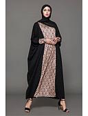 preiswerte Damen Kleider-Damen Festtage Baumwolle Abaya Kleid - Druck Maxi