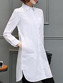 baratos Chapéus de Moda-Mulheres Tamanhos Grandes Camisa Social Sólido Colarinho de Camisa