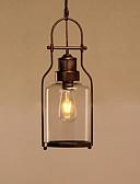 olcso Ruhák-loft szüreti üveg függő lámpák fekete fém étkező függő fények bár ruhaüzlet világítás