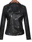 baratos Cintos de Moda-Mulheres Jaquetas de Couro Moda de Rua - Sólido
