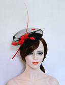 cheap Wedding Dresses-Flannelette / Feather Fascinators / Hats with 1 Wedding / Party / Evening Headpiece