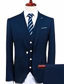 ieftine Rochii de Domnișoare de Onoare-Bleumarin Standard Fit Poliester Costum - Rever Peaked / Răsfrânt Un singur rând, un nasture