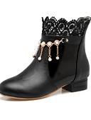 hesapli Külotlar-Kadın's Ayakkabı PU Sonbahar / Kış Rahat / Yenilikçi Çizmeler Düz Taban Yuvarlak Uçlu Bootiler / Bilek Botları Dış mekan / Ofis ve Kariyer