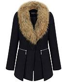 olcso Kabát & Viharkabát-Alkalmi V-alakú Női Kabát - Egyszínű
