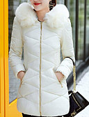 cheap Women's Down & Parkas-Women's Going out Street chic Cotton Padded - Solid Colored