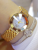 cheap Quartz Watches-Women's Wrist Watch Japanese Stainless Steel Band Charm Silver / Gold