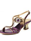 preiswerte Beliebte Styles bei Brautmutterkleidern-Damen Schuhe Kunstleder Frühling / Sommer Modische Stiefel Sandalen Offene Spitze Strass / Kristall / Glitter Gold / Purpur / Blau