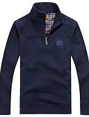זול סוודרים וקרדיגנים לגברים-מבוגרים L / XL / XXL פול / שחור / ירוק צבא גולף כותנה, סוודר רגיל רגיל שרוול ארוך אחיד יומי / סוף שבוע בגדי ריקוד גברים
