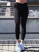 tanie Getry-Damskie Codzienny Sportowy Legging - Solidne kolory, Siateczka Średni Talia / Wiosna / Lato / Jesień / Sportowy look / Rurki