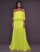 זול שמלות נשים-סירה מתחת לכתפיים עד הברך אחיד - שמלה סווינג בגדי ריקוד נשים / משוחרר