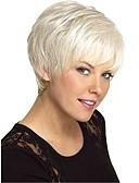 baratos Leggings para Mulheres-Perucas de cabelo capless do cabelo humano Cabelo Humano Liso Parte lateral Curto Fabrico à Máquina Peruca Mulheres