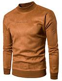 cheap Men's Polos-Men's Long Sleeve Hoodie & Sweatshirt - Letter, Print Round Neck