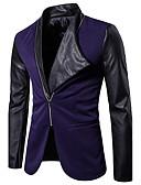 זול גברים-ג'קטים ומעילים-אחיד בלייזר - בגדי ריקוד גברים כותנה