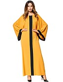 cheap Women's Dresses-Women's Tunic Dress - Solid Colored Maxi