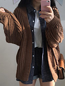cheap Women's Sweaters-Women's Long Sleeve Cardigan - Solid Colored V Neck / Winter