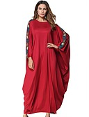 cheap Women's Dresses-Women's Swing Dress - Solid Colored Red Maxi