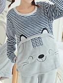 preiswerte Bademäntel & Nachtwäsche-Damen Baumwolle Anzüge Pyjamas Mehrfarbig Stickerei Tier