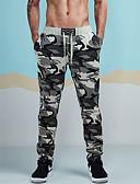 お買い得  メンズパンツ&ショーツ-男性用 活発的 コットン スウェットパンツ パンツ - カモフラージュ グレー / スポーツ