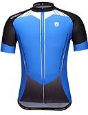 tanie Suknie i sukienki damskie-Męskie Krótki rękaw Koszulka rowerowa - Niebieski Geometric Shape Rower Dżersej, Szybkie wysychanie Poliester / Elastyczny