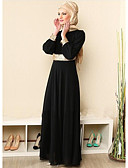 tanie Sukienki-Damskie Wyjściowe Bawełna Abaja Sukienka - Jendolity kolor Maxi