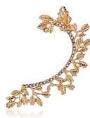 povoljno Tajice-Žene Klipse Naušnice Helix Pljusnuti Leaf Shape dame Moda Hip-hop Ogroman Imitacija dijamanta Naušnice Jewelry Zlato / Pink Za Dnevno Ulica
