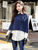 cheap Women's Tops-Women's Going out Casual / Street chic Pullover - Solid Colored Shirt Collar