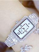 Недорогие Кварцевые часы-Жен. Эксклюзивные часы Наручные часы Diamond Watch Японский Кварцевый Нержавеющая сталь Серебристый металл / Золотистый 30 m Повседневные часы Аналоговый Дамы Кулоны - Золотой Серебряный