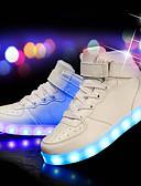 hesapli Latin Dans Giysileri-Erkek Ayakkabı PU Kış Sonbahar Işıklı Ayakkabılar Spor Ayakkabısı Günlük Parti ve Gece için LED Beyaz Siyah Kırmzı