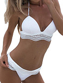 cheap Women's Swimwear & Bikinis-Women's Halter Bikini - Solid Colored Cheeky
