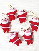 preiswerte Farbiger Chiffonschal-6pcs Weihnachten Weihnachtsschmuck, Urlaubsdekoration 10.0*10.0*3.0
