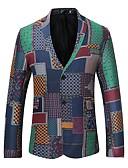 זול בלייזרים וחליפות לגברים-רזה מתוחכם בלייזר - בגדי ריקוד גברים, דפוס כותנה