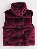 tanie Kurtki i płaszcze dla dziewczynek-Brzdąc Dla dziewczynek Solidne kolory Bawełna Kamizelka Fioletowy 100