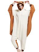preiswerte Kleider für die Blumenmädchen-Erwachsene Kigurumi-Pyjamas Maus Eichhörnchen Fliegendes Eichhörnchen Pyjamas-Einteiler Polar-Fleece Braun Cosplay Für Herren und Damen Tiernachtwäsche Karikatur Fest / Feiertage Kostüme