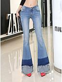 رخيصةأون بنطلونات و ليغنغ نسائي-بنطلون نسائي قطن جينزات لون سادة عتيق / مناسب للخارج / نادي
