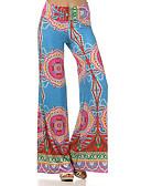 cheap Women's Pants-Women's Boho Wide Leg Pants - Geometric, Print