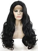 preiswerte Tanzzubehör-Synthetische Lace Front Perücken Locken Synthetische Haare Schwarz Perücke Damen Lang Spitzenfront Schwarz