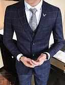 baratos Suéteres & Cardigans Masculinos-Homens Terno Houndstooth Xadrez, Algodão Oversized