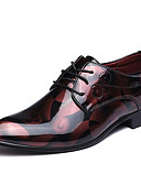cheap Men's Shirts-Men's Formal Shoes Microfiber Spring / Fall Oxfords Walking Shoes Black / Red / Blue / Wedding / Party & Evening / Printed Oxfords