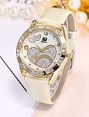 baratos Quartz-Mulheres Relógio de Pulso Quartzo Preta / Branco Relógio Casual Analógico senhoras Luxo Casual Fashion Elegante - Branco Preto