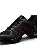 ieftine Print Dresses-Pentru femei Pantofi Dans Tul / Imitație de Piele Adidași Despicare Toc Drept Personalizabili Pantofi de dans Roz / negru / Negru și Auriu