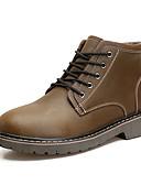 ieftine Costum de Baie Bărbătești-Bărbați Pantofi de confort PU Primăvară / Toamnă Cizme Anti-Alunecare Negru / Maro