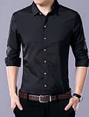 お買い得  メンズシャツ-男性用 シャツ アジアン・エスニック ソリッド コットン / 長袖