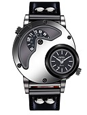 cheap Men's Blazers & Suits-YNFRU Men's Wrist Watch Chinese Casual Watch / Cool / Large Dial Leather Band Casual / Fashion / Unique Creative Watch Black / Brown / Stainless Steel