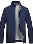 זול גברים-ג'קטים ומעילים-אחיד עומד ג'קט - בגדי ריקוד גברים כותנה
