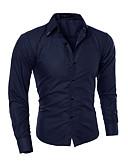 olcso Férfi pólók-Kínai Férfi Pamut Ing - Kockás