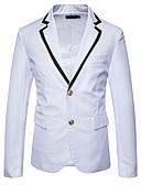 זול גברים-ג'קטים ומעילים-קולור בלוק סגנון רחוב בלייזר - בגדי ריקוד גברים