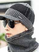 cheap Men's Sweaters & Cardigans-Men's Work Casual Sweater Floppy Hat - Solid, Knitted
