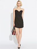 cheap Women's Dresses-Women's Club Going out Street chic Bodycon Dress - Patchwork Backless Mesh Mini V Neck